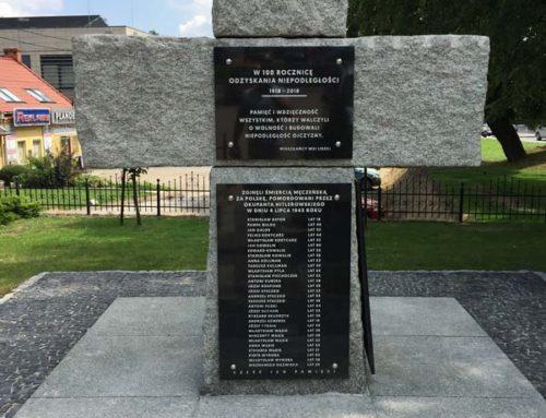 Renowacja pomnika ofiar pacyfikacji 4 lipca 1943 r. w Liszkach
